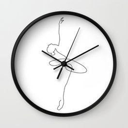 Abstract Ballerina Wall Clock