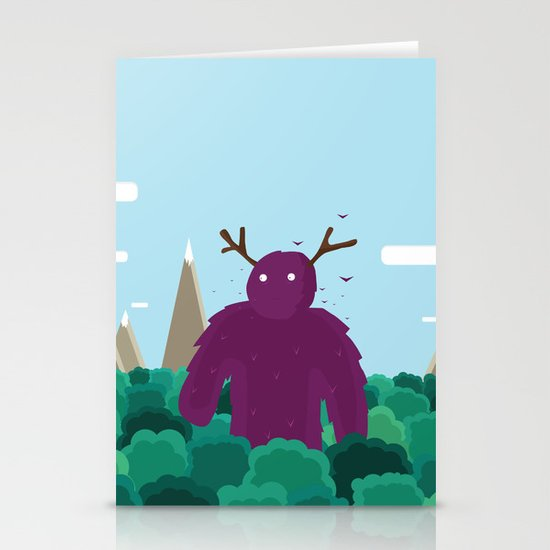 Life Swarms with Innocent Monsters Stationery Cards