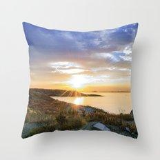 Autumn Sunset at Andrews Point Throw Pillow