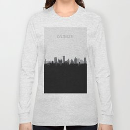 City Skylines: Baltimore (Alternative) Long Sleeve T-shirt