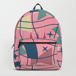 Mid Century Modern Abstract Pattern 413 Backpack