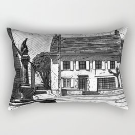 Montboudif, birthplace of Geoges Pompidou Rectangular Pillow