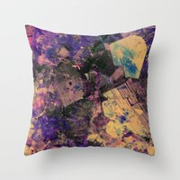gem Throw Pillows featuring Vintage Gem by Simona Sacchi