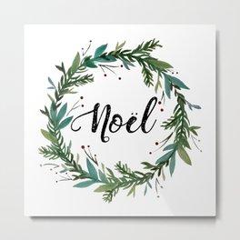 Noel Wreath Metal Print