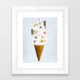 galaxy cone Framed Art Print
