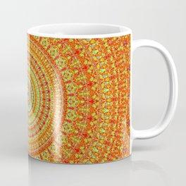 Radiant Orange Abstract Quasicrystal Coffee Mug