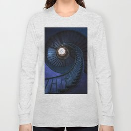 Abandoned blue spiral staircase Long Sleeve T-shirt