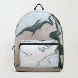 Abstract marble effect painting Backpack