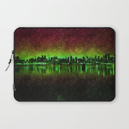 NYC Surreal Green Laptop Sleeve