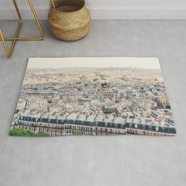 Paris, France 2 Aerial City View from Sacre Coeur Rug
