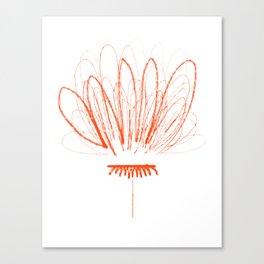 Orange Flower Petal Scribble Canvas Print
