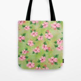 Tropical Flowers Malaysian Inspired Print Tote Bag