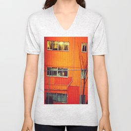 Orange Industrial Unisex V-Neck