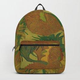Van Gogh, sunflowers 2 – Van Gogh,Vincent Van Gogh,impressionist,post-impressionism,brushwork,paint Backpack