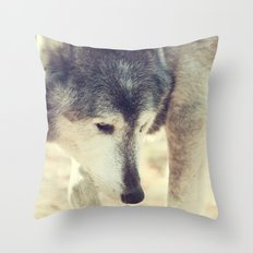 Wolfs Beauty Throw Pillow