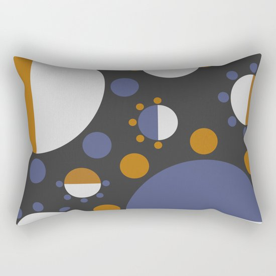 MORE AND MORE CIRCLES  (abstract pattern Rectangular Pillow