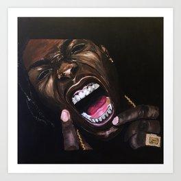 asap,rapper,poster,wall art,fan art,music,hiphop,rap,testing,print Art Print