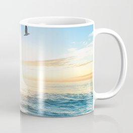 Blue Sky with Birds Coffee Mug