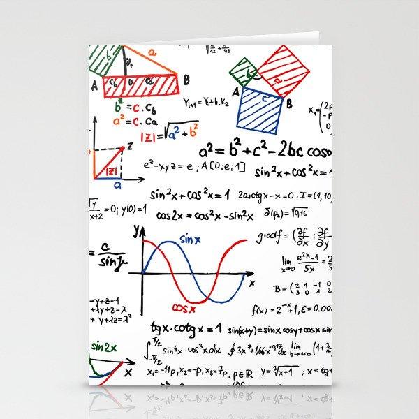 Math Cheat Sheet Stationery Cards by pixelstory   Society6
