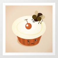 Fly on a Cupcake Art Print