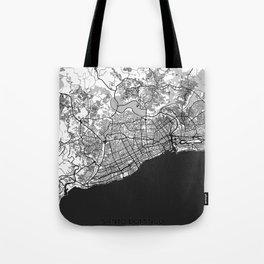 Santo Domingo Map Gray Tote Bag