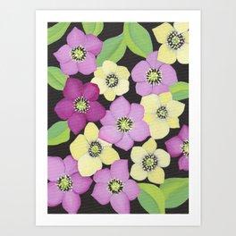 Helleborus floral pattern Art Print