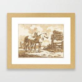 Paarden, Anthonie van den Bos, 1778 - 1838 2 Framed Art Print