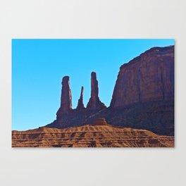 Blue Sky & Rock Canvas Print