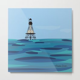 Fowey Rocks Lighthouse Metal Print