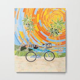 FL Keys Bicycle Metal Print