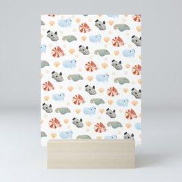 Sealife pattern Mini Art Print