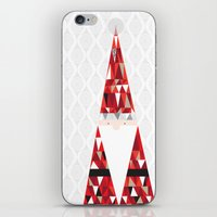 santa iPhone & iPod Skins featuring SANTA by Pardabon