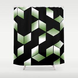 Elegant Origami Geometric Effect Design Shower Curtain