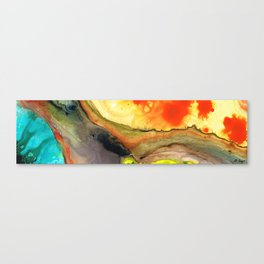 Bridging The Gap - Abstract Art Painting By Sharon Cummings Canvas Print