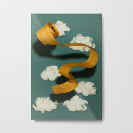 Gold TP in the Clouds Metal Print