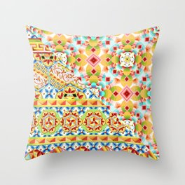 Groovy Gypsy Circus Throw Pillow