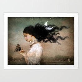 she likes the night Art Print