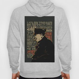 Winston Churchill Pop Art Quote Hoody