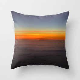 Sunrise over clouds Throw Pillow