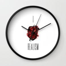 I love Realism Wall Clock