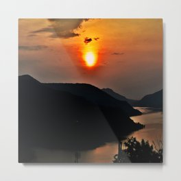 Sunset and the river Metal Print