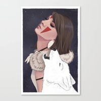 princess mononoke Canvas Prints featuring Princess Mononoke by Chelsea Hantken