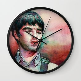 Noel Gallagher Watercolor Painting Wall Clock