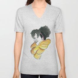 Natural Little Miss Ari Unisex V-Neck