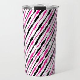 Pink and Black Pattern Travel Mug