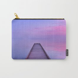 Jetty on a still lake at dawn in The Netherlands Carry-All Pouch