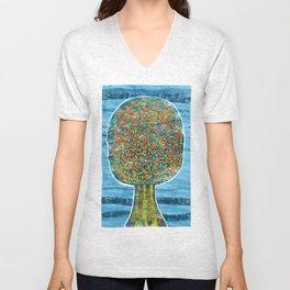 Tree and Birds Unisex V-Neck