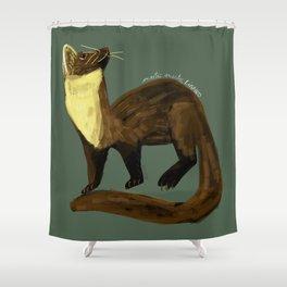 Fluffy Marten ( Martes martes ) Shower Curtain