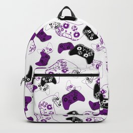 Video Game White & Purple Backpack
