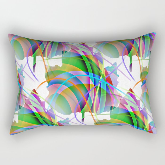Maple Leaf Abstract Rectangular Pillow
